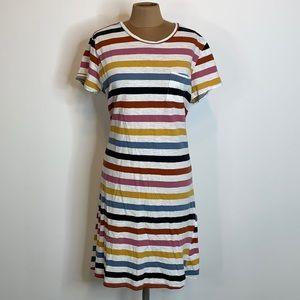 Cotton Striped Tee Shirt Dress Size XL